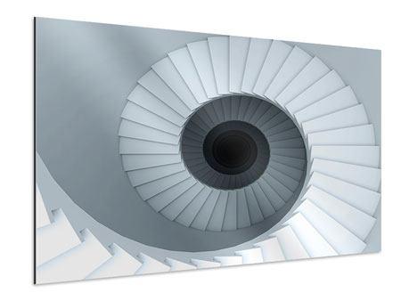 Aluminiumbild 3D Wendeltreppe