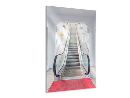 Aluminiumbild Rolltreppe