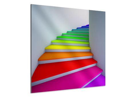 Aluminiumbild Bunte Treppe