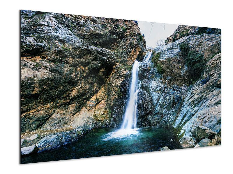 Aluminiumbild Bewegtes Wasser