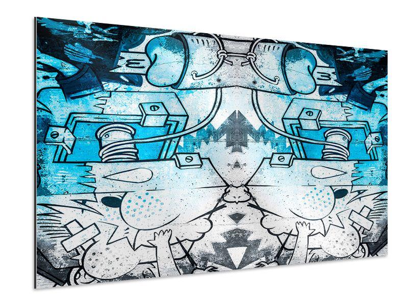 Aluminiumbild Graffiti