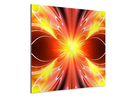 Aluminiumbild Abstraktes Farbenspektakel