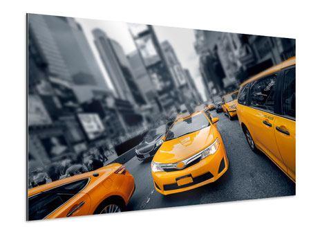 Aluminiumbild Taxi in NYC