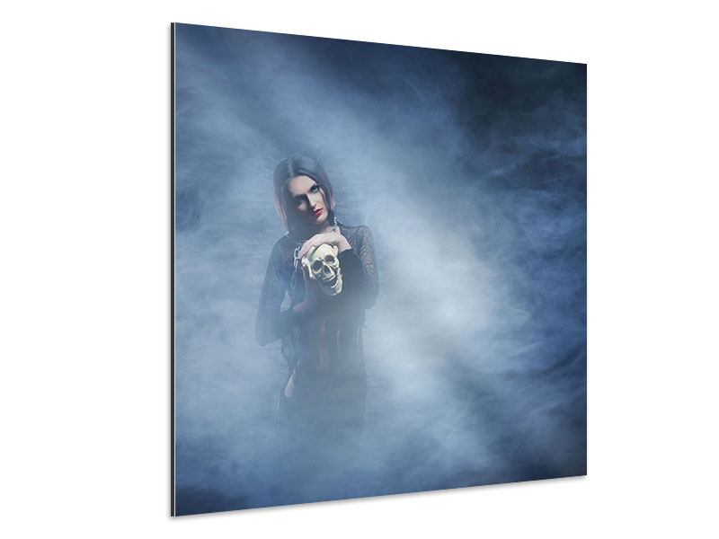 Aluminiumbild Das Geheimnis des Skulls