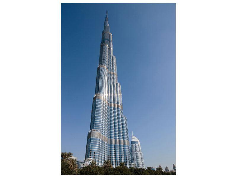 Aluminiumbild Wolkenkratzer Dubai