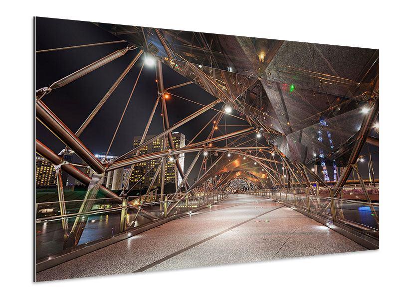 Aluminiumbild Brückenlichter