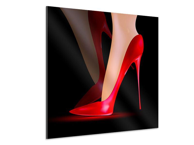 Aluminiumbild Der rote High Heel