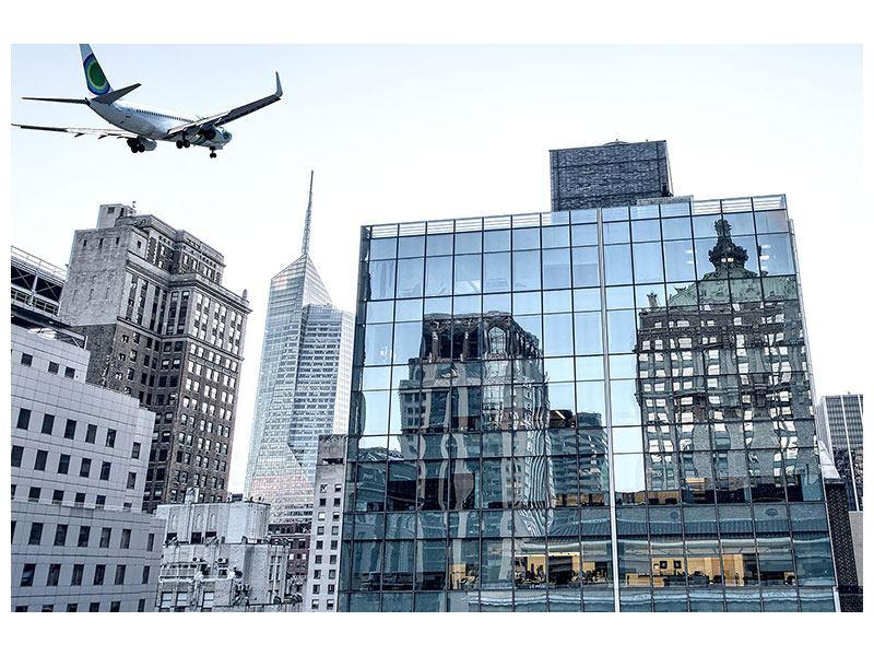 Aluminiumbild Wolkenkratzer NYC