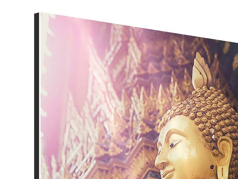 Aluminiumbild Buddha Skulptur