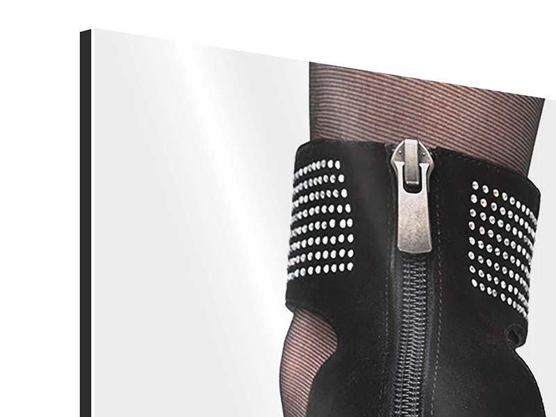 Aluminiumbild Der High Heel