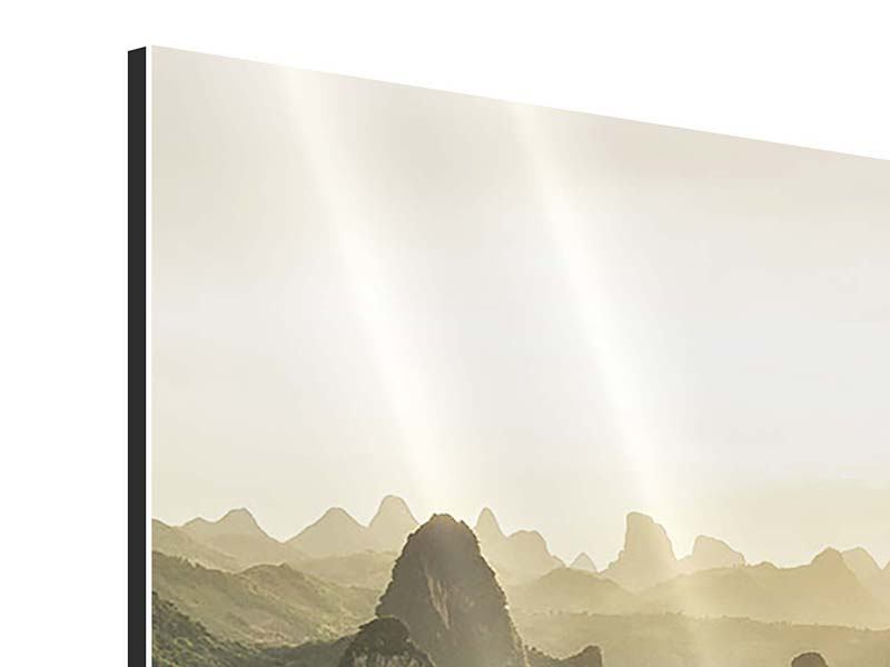 Aluminiumbild Die Berge von Xingping