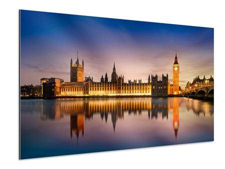 Aluminiumbild Big Ben in der Nacht