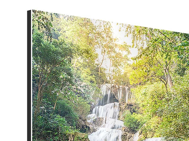 Aluminiumbild Berauschter Wasserfall