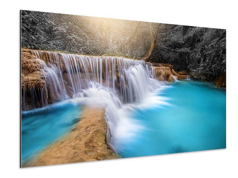 Aluminiumbild Glücklicher Wasserfall