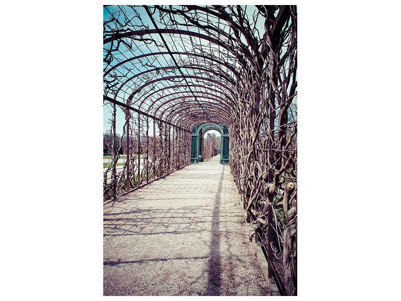 Aluminiumbild Gartenlaube