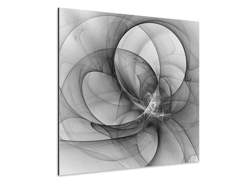 Aluminiumbild Abstrakte Kreisende Kreise