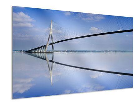 Aluminiumbild Die Pont de Normandie