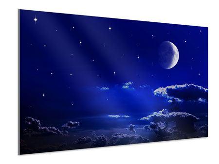 Aluminiumbild Der Nachthimmel