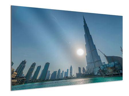 Aluminiumbild Wolkenkratzer-Architektur Dubai