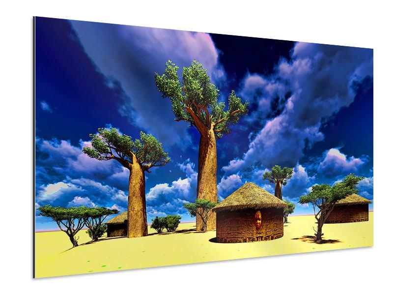 Aluminiumbild Ein Dorf in Afrika