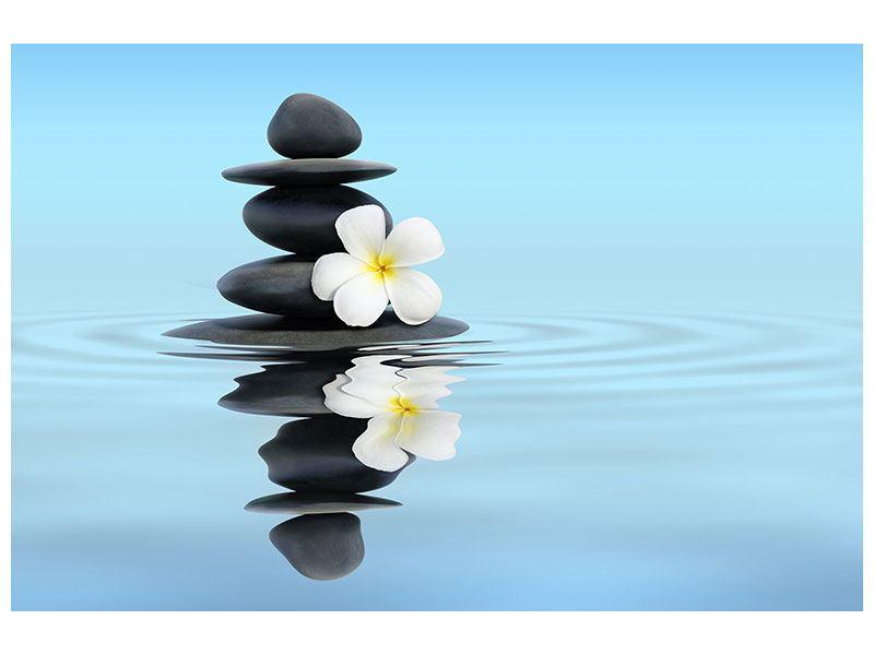 Aluminiumbild Zen Steine