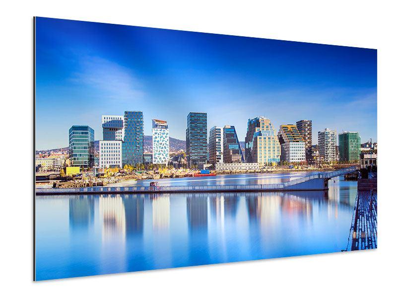 Aluminiumbild Skyline Oslo