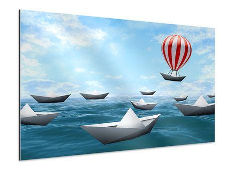 Aluminiumbild Schiffchen