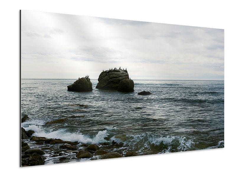 Aluminiumbild Leise Wellen