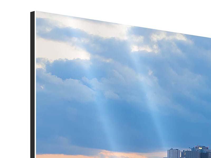 Aluminiumbild Skyline Frankfurt am Main