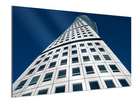 Aluminiumbild Meisterstück Wolkenkratzer