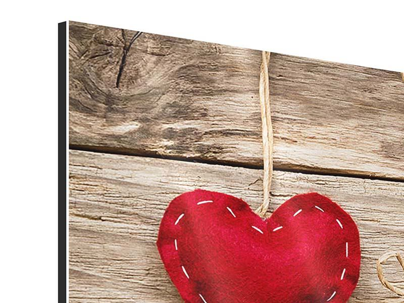 Aluminiumbild Herzromantik