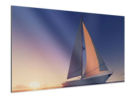 Aluminiumbild Das Segelschiff