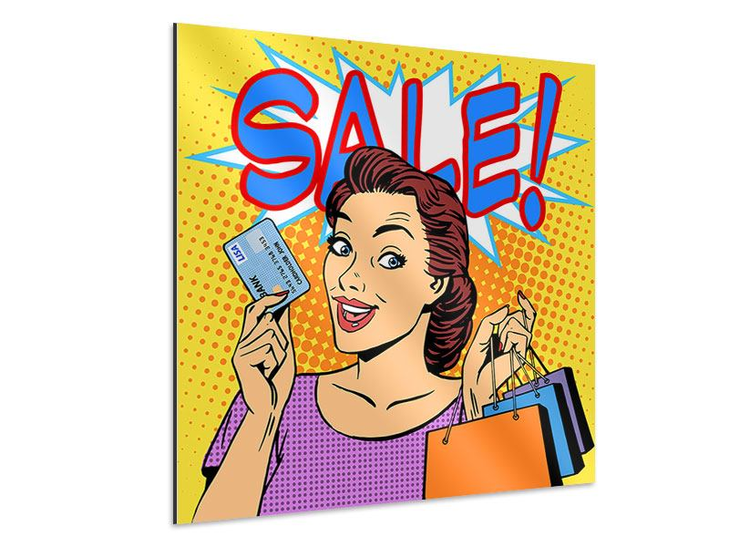 Aluminiumbild Pop Art Sale