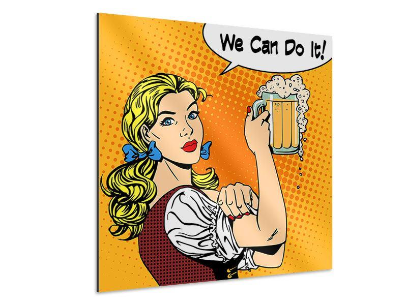 Aluminiumbild We Can Do It