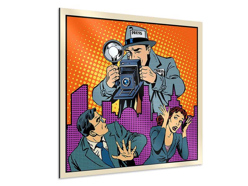 Aluminiumbild Pop Art Paparazzi