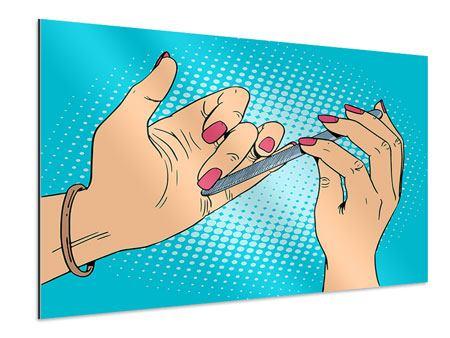 Aluminiumbild Pop Art Nails