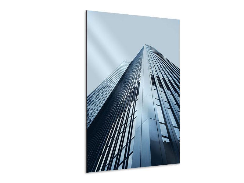 Aluminiumbild Hochhaus-Anblick