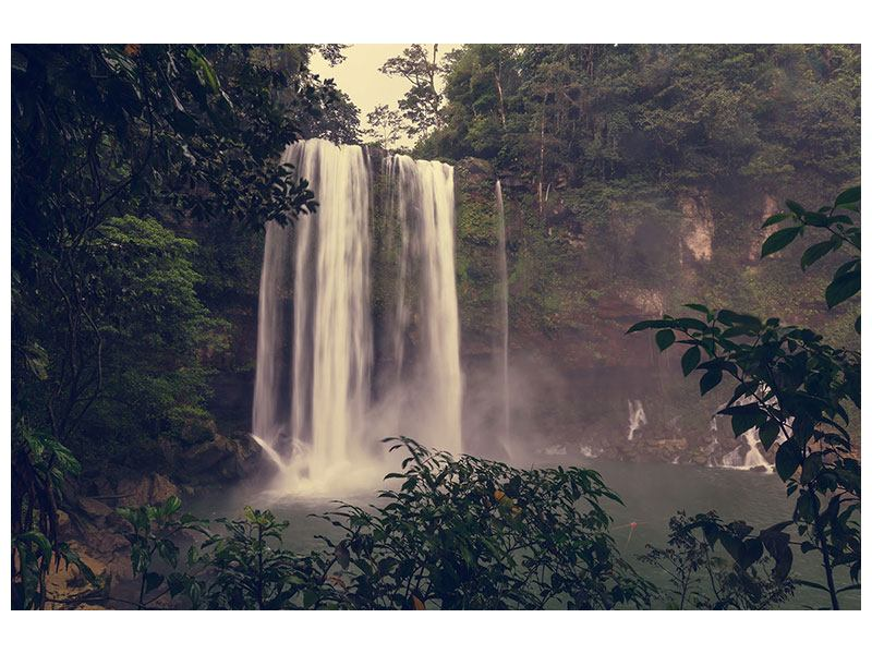 Aluminiumbild Wasserfall in Mexiko