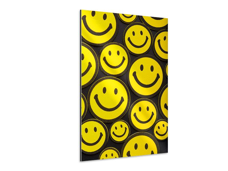 Aluminiumbild Smileys