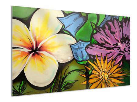 Aluminiumbild Graffiti Flowers
