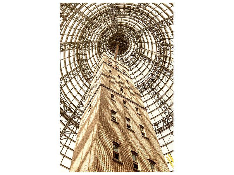 Aluminiumbild Wolkenkratzer Close Up