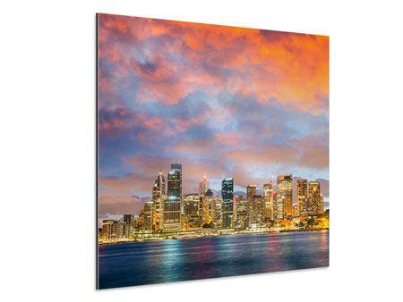 Aluminiumbild Skyline Das Lichtermeer von Sydney