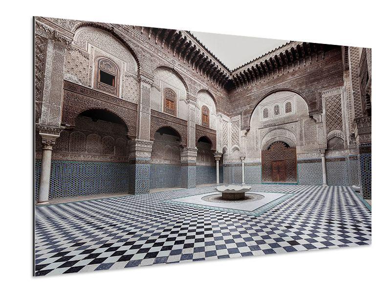 Aluminiumbild Orientalischer Hinterhof