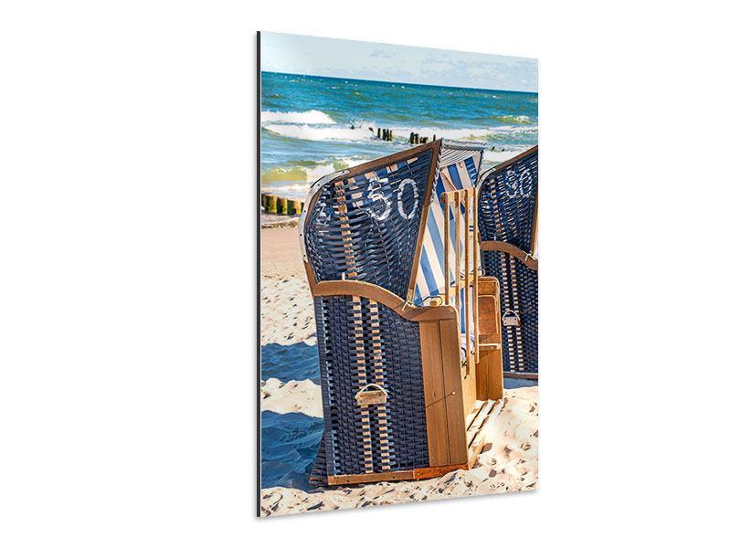 Aluminiumbild Strandkorb