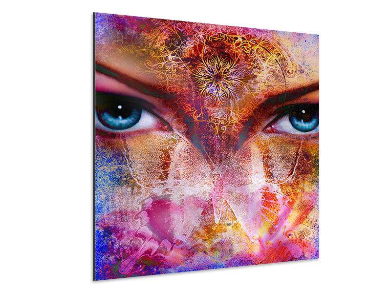 Aluminiumbild Psychedelic Face