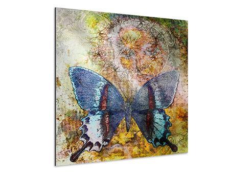 Aluminiumbild Ornament-Schmetterling