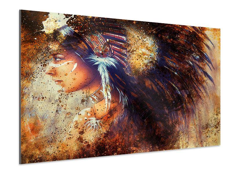Aluminiumbild Indianer