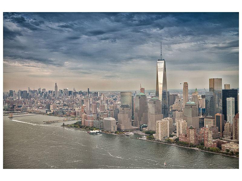Aluminiumbild Skyline Manhattan