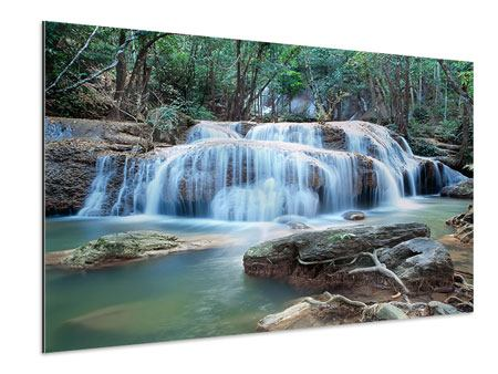 Aluminiumbild Ein Wasserfall