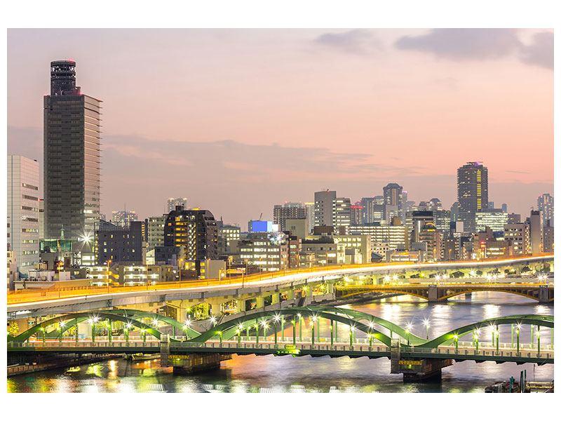 Aluminiumbild Skyline Das Lichtermeer von Tokio